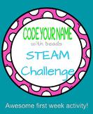 Code Your Name Bracelet Making STEAM Challenge
