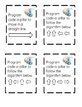Code-a-pillar and Bee Bot Task Cards Coding Programming