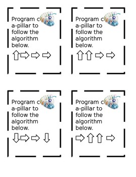 Code-a-pillar and Bee Bot Task Cards EDITABLE coding programming computer