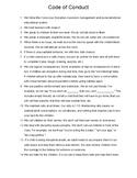 Code of Conduct for the Conscious Discipline Preschool