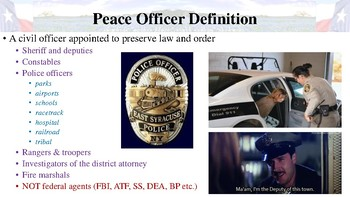 Code of Criminal Procedure Notes for Law Enforcement