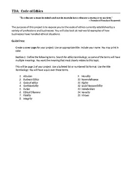 Code of Ethics Research Project