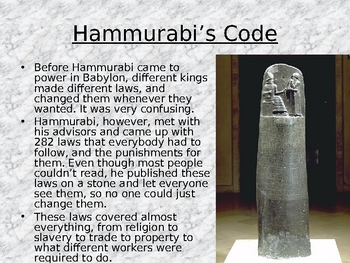 Code of Hammurabi & Law-Making Activity by Mr Chapman   TpT