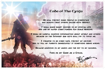 """""""Code of The Cynja®"""" Poster"""