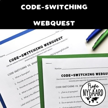 Code-switching WebQuest