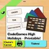 CodeGames High Holidays - Printable!