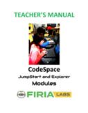 CodeSpace Teacher's Manual - Free Version
