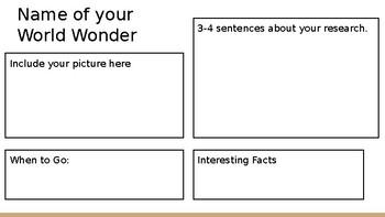 CodeX Unit 3 World Wonders (World Wonder Brochure Activity)