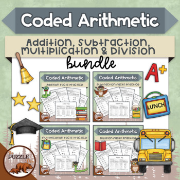 Coded Arithmetic Super Bundle - 52 puzzles for +, -, x, and \