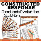 Coded Feedback Comments/Grading Sheets Rubric for Short Answer Extended Response