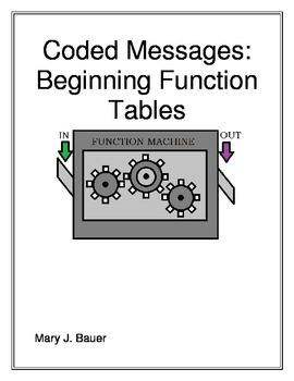 Coded Messages: Beginning Function Tables