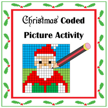 Coded Picture Christmas Activity