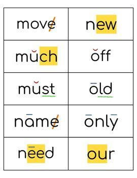 Coded Sight Word Card (set #2, Fry words 101-200)