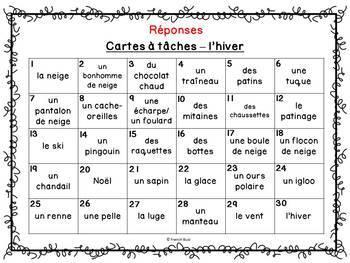 Codes QR - Hiver - Cartes à tâches - Qui suis-je? French Winter Task Cards