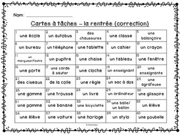 Codes QR - La rentrée - Cartes à tâches - Qui suis-je? Back to School Task Cards