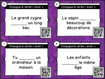 Codes QR - Le verbe avoir - Cartes à tâches - French Verbs Task Cards