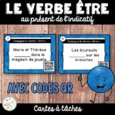 Codes QR - Le verbe être - Cartes à tâches - French Verbs Task Cards