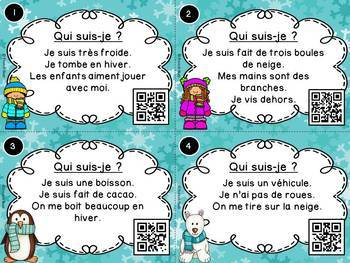 Codes QR - Les saisons - Ensemble cartes à tâches - Seasons Task Cards - Bundle