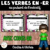 Codes QR - Les verbes du premier groupe (en er) - Cartes à tâches - French Verbs