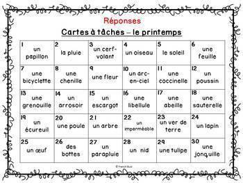 Codes QR - Printemps - Cartes à tâches - Qui suis-je? French Spring Task Cards