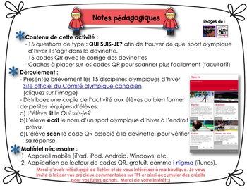 Codes QR/French/Les sports d'hiver aux olympiques