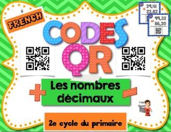 Codes QR/IPAD – Nombres décimaux/Decimals numbers
