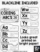 Coding Alphabet Posters with Definitions