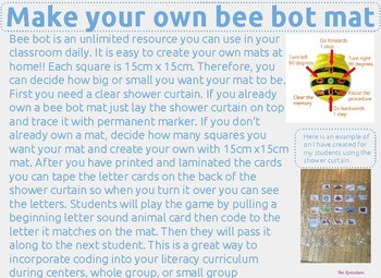 Coding Bee Bot Halloween Begining Letter Sounds