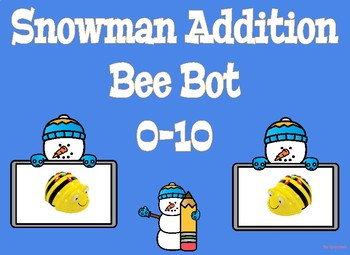 Coding Bee Bot Snowman Addition 0-10