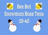 Coding Bee Bot Snowman Base Ten 10-40
