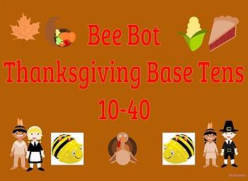 Coding Bee Bot Thanksgiving Base Ten 10-40