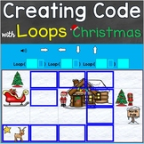Coding, Creating Code with Loops Christmas Theme Digital B