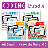 Coding Digital Interactive Activities All Seasons GROWING BUNDLE