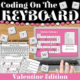 Coding & Keyboarding Practice:  12 Valentine Challenges -