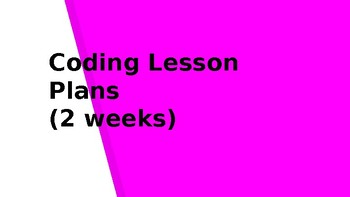 Coding Lesson Plan and Vocabulary- BUNDLE
