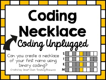 Coding Necklace ~ Coding Unplugged Challenge ~ STEM
