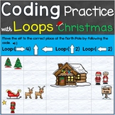 Coding Practice with Loops Computer Code Looping Christmas