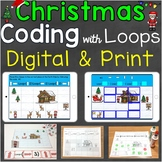 Coding Practice with Loops Mega Bundle Christmas Digital &