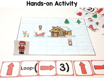 Coding Practice with Loops Printable Version Christmas, Follow & Create Code