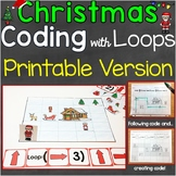 Coding Practice with Loops Printable Version Christmas, Fo