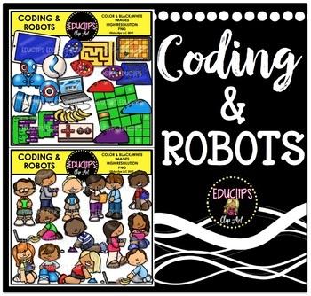 Coding & Robots Clip Art Bundle {Educlips Clipart}