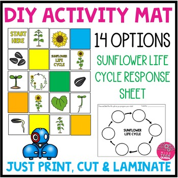 Bee Bot Sunflower Life Cycle Activity