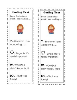 Coding Text - Monitoring Comprehension