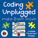 Coding - Coding Unplugged - Movement Cards - Block Coding - Movement Game