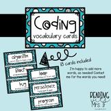 Coding Vocabulary Cards