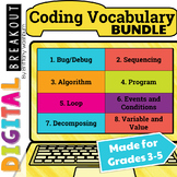 Coding Vocabulary Digital Breakouts Bundle (Hour of Code)
