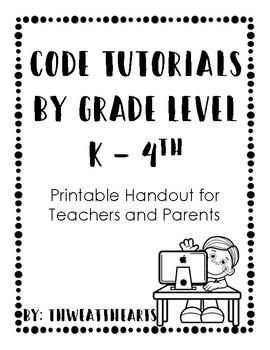 Coding Websites for Teachers and Parents Handout