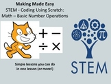 Coding With Scratch: Math - Basic Number Operations