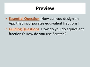 Coding With Scratch: Math - Equivalent Fractions (STEM)