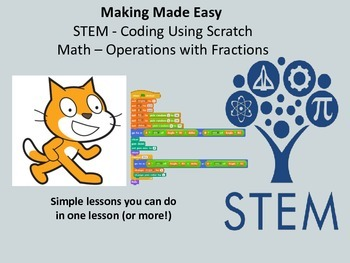 Coding With Scratch: Math - Operations with Fractions (STEM)